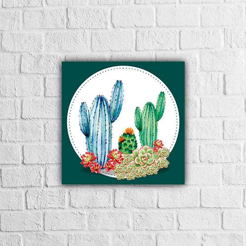 Placa Decorativa Cactos - A partir de