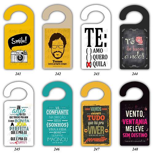 Tag Cabide para porta - Frases Diversas.