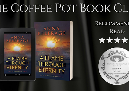 #BookReview — A Flame Through Eternity: The Wanderer Series #3 by Anna Belfrage