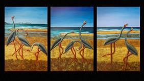 Birds Triptych -For Sale