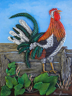 Happy Rooster - Sold