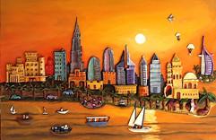 Dubai Sunset - Sold