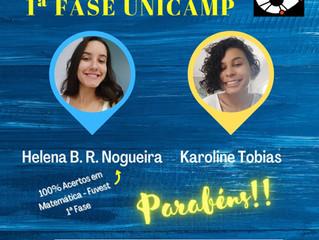 Aprovadas 1ª Fase Unicamp