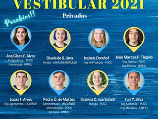 Aprovados Vestibular 2021 - Privadas