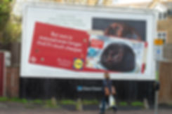 Poster of Lidl guerrilla campaign, covering rivals Waitrose and M&S