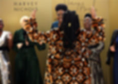 Harvey's Angel's choir wearing Harvey Nichols' clothing range