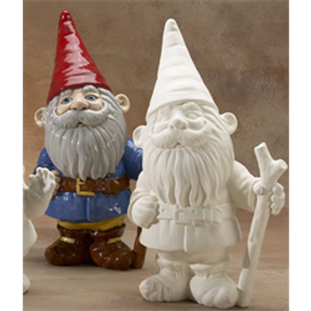 Large Gnome with Walking Stick