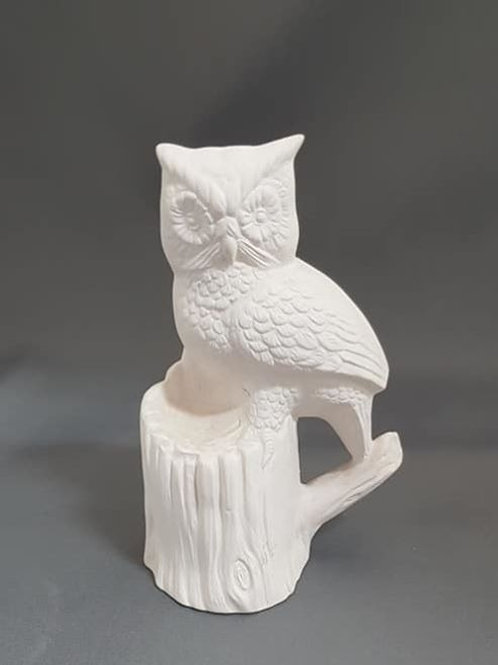 Owl on Stump