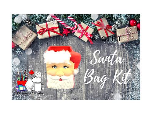 Non Fired Acrylic Mini Santa Bag
