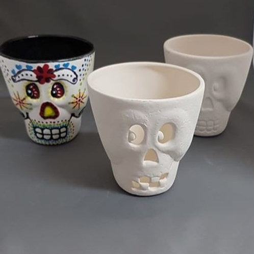Skull Cup with Cutouts