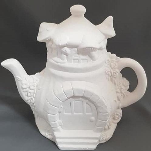Charming Teapot Fairy Cottage