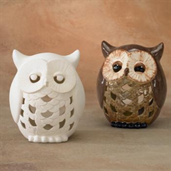 Large Owl Lantern Votive