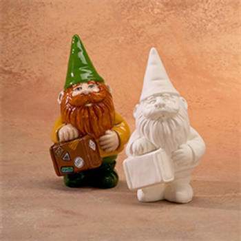 Small Gnome with Suitcase