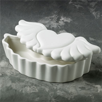 Heart with Wings Trinket Box