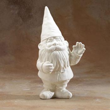 Garden Gnome Waving
