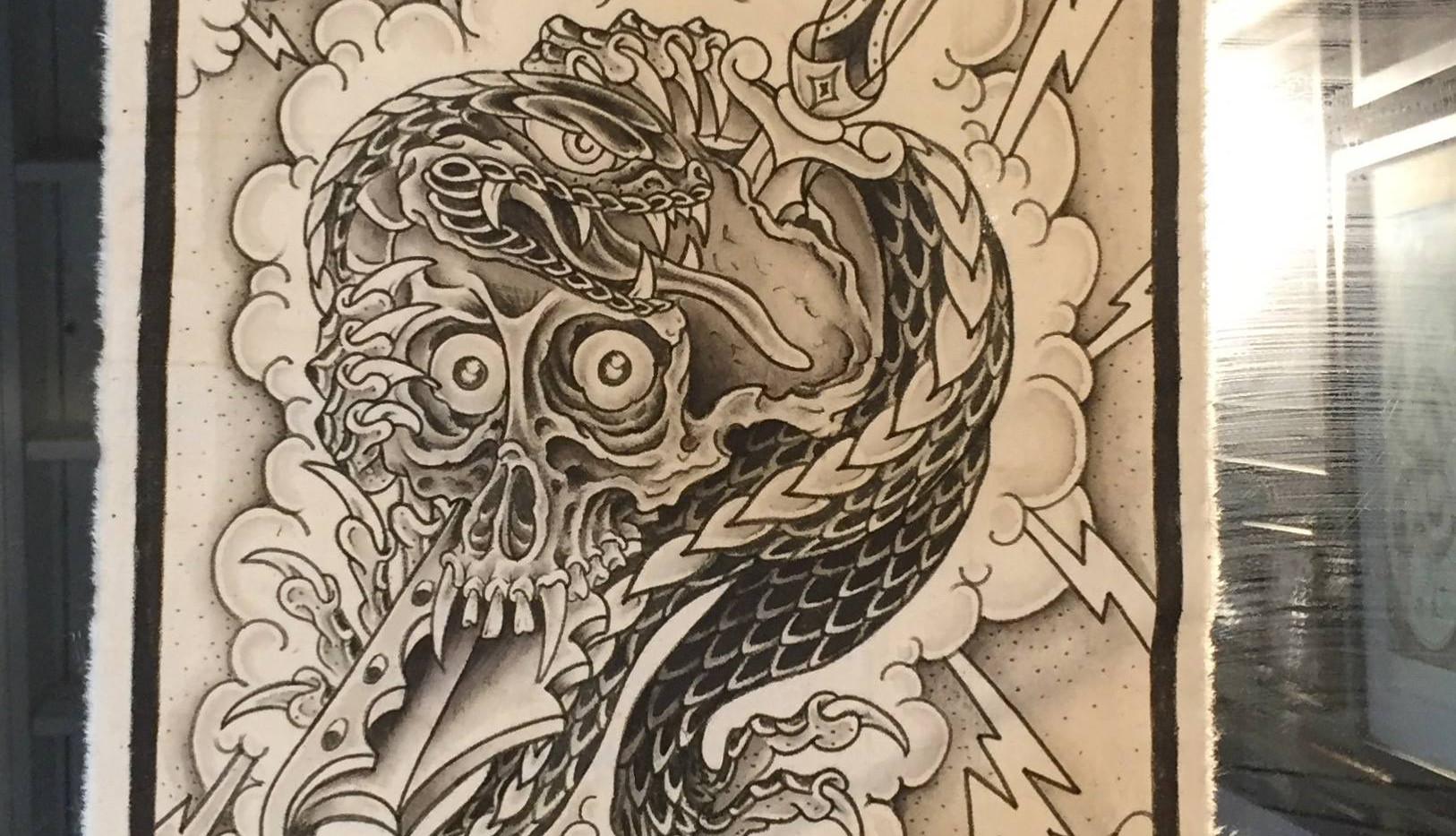 Lizard and Skull