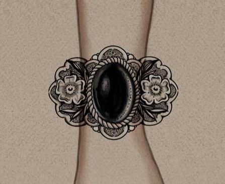 Stone Cuff (black&grey)