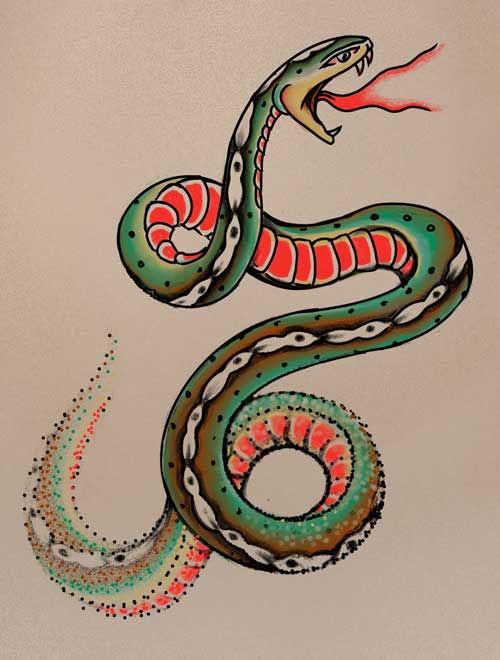 Dissolving Snake