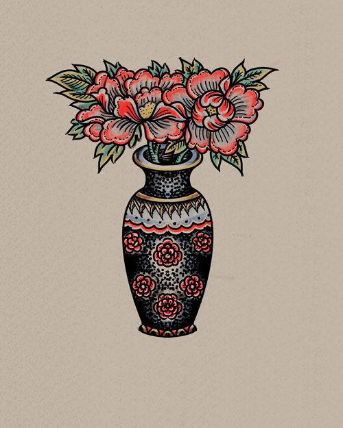 Vase Still Life Peonies