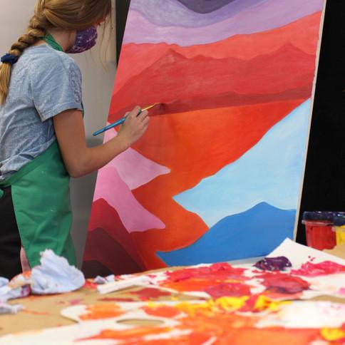 Jemma Thorp  Peinture acrylique 9e année