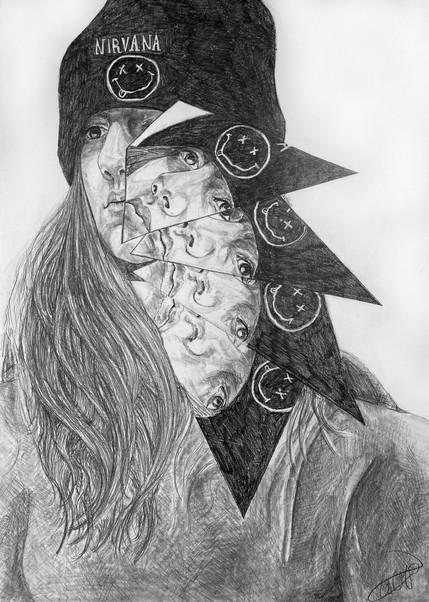Zoé Geisler Lamonde - Autoportrait (Graphite)