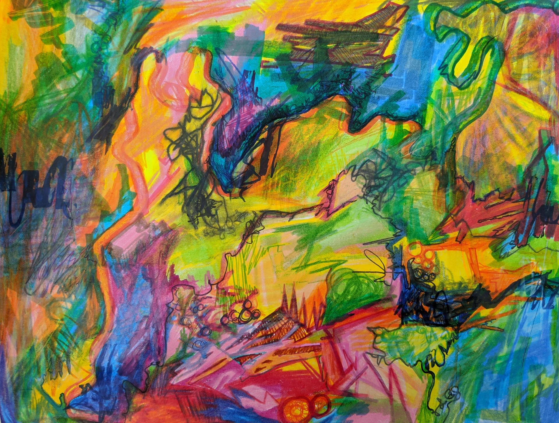 Gabrielle Lavoie - Labyrinthe (Feutre et crayon)
