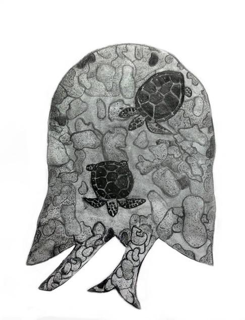 Agnès Beauregard  - Autoportrait (Graphite)