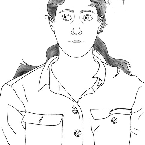 Gabrielle Soucy, Autoportrait, Dessin di