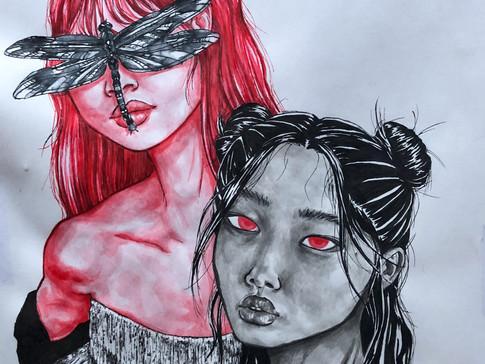 "11-11 Paloma Murphy, ""Vampire gfs"", aqua"