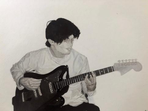 "11 Raven Martin Guitariste Aquarelle 10"""