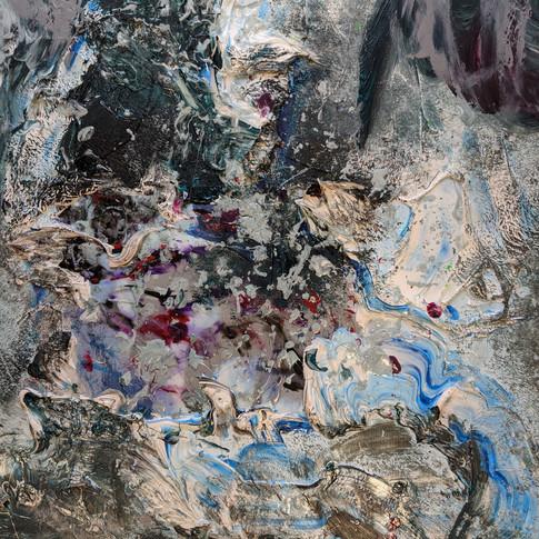 Gabrielle Lavoie, Neptune, Peinture acry