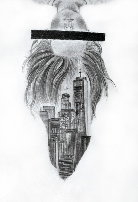 Marianne Farmer - Autoportrait/New York (Graphite)