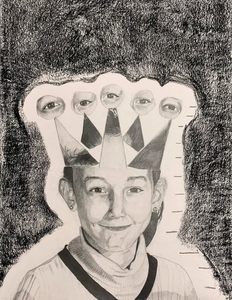 Wafa Amrouche - Autoportrait (Graphite)