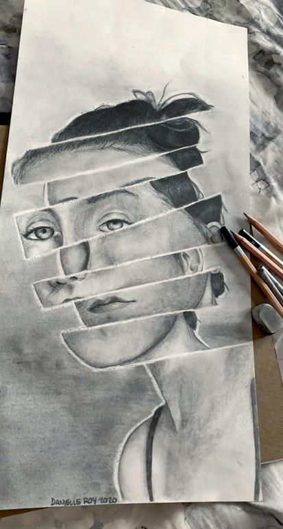 Danielle Roy - Autoportrait (Graphite)