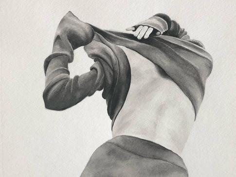 "11-11 Raven Martin Tissu aquarelle 13,5"""