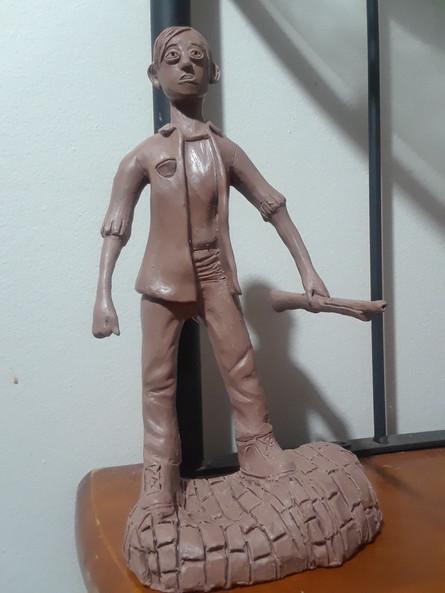 Danielle Makungu-Pululu (Sculpture d'argile)
