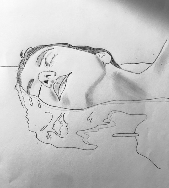 Sophie Helal Robertson - Le reflet (Graphite)