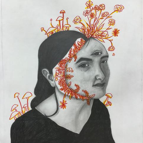 9-9 Amélie Cotie St-Louis - Autoportrait