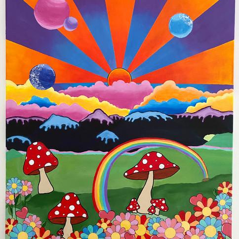 10-Nadia Smith, Canyon Moon, Peinture, 6