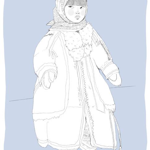 Elena Toma, Une jeune fille sibérienne.j