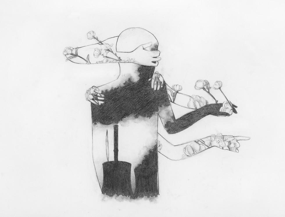 Shoko Carrière - Autoportrait (Graphite)