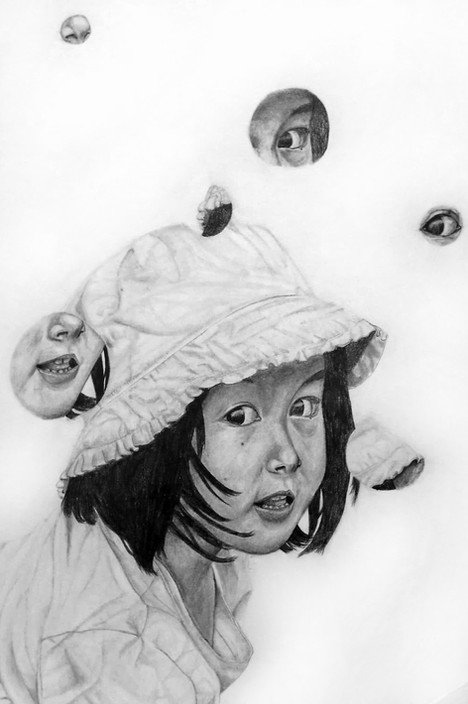 Maya Kay Padlewska - Autoportrait (Graphite)