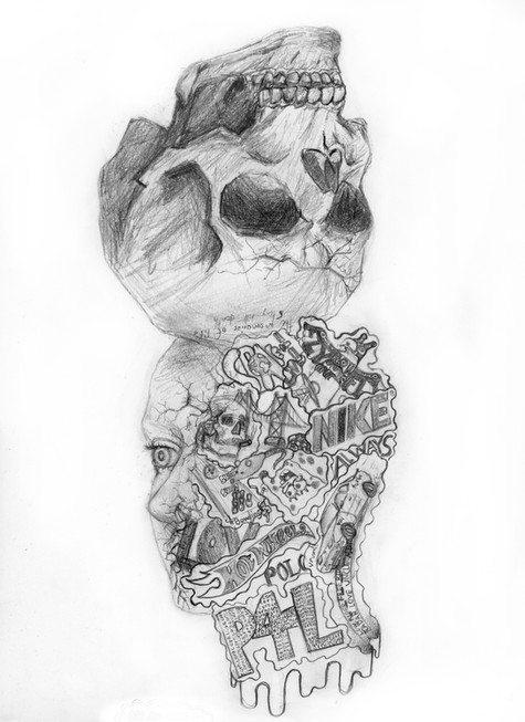 Sebastien Landry - Autoportrait (Graphite)