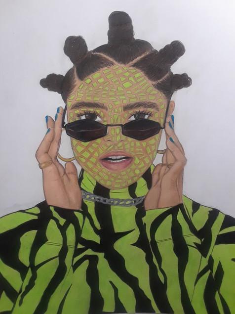 Danielle Makungu-Pululu - Pop (Crayons de couleurs)