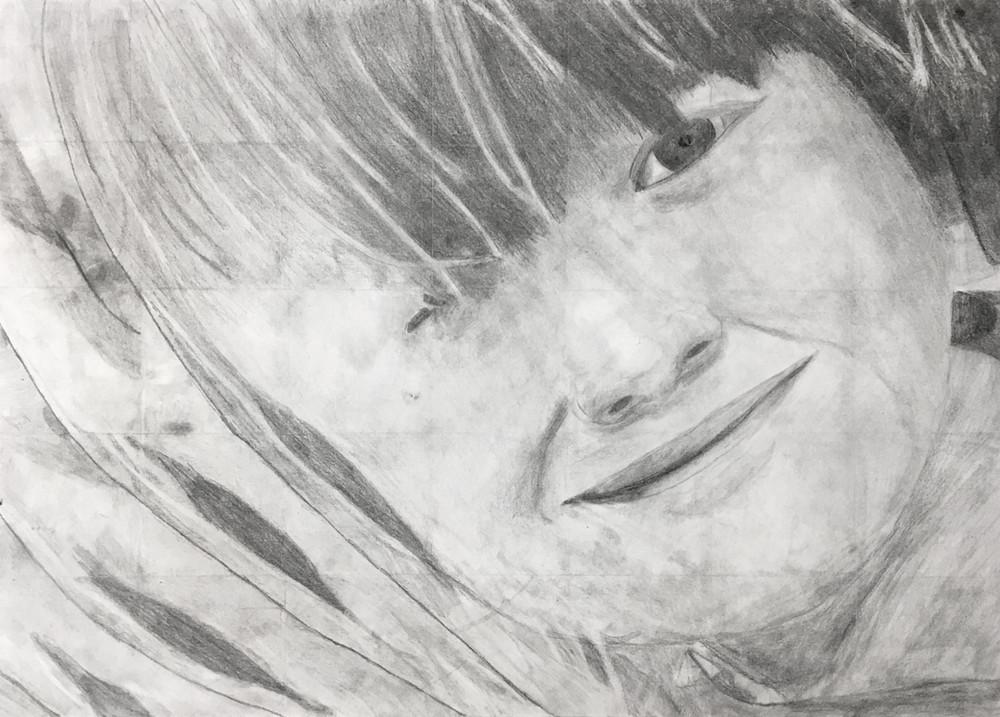 Ruby Vachon Westerlund - Autoportrait (Graphite)