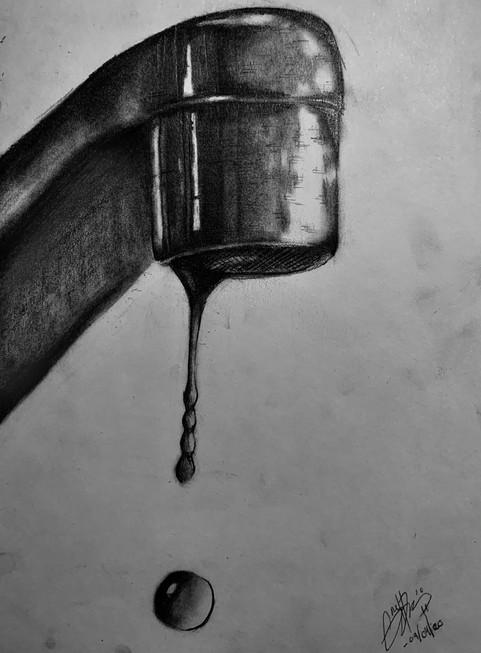 Dara Grebennikova - La goutte d'eau (Graphite)