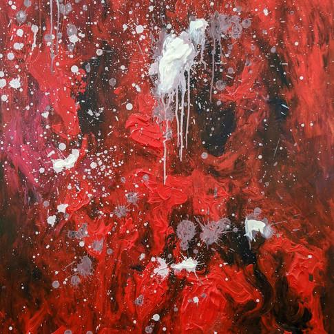 Gabrielle Lavoie, Ruby, Peinture acryliq