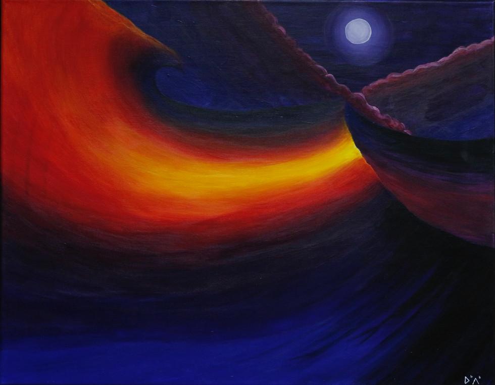 Maïa Bianchi Melchin - La nuit de la tempête (Acrylique)