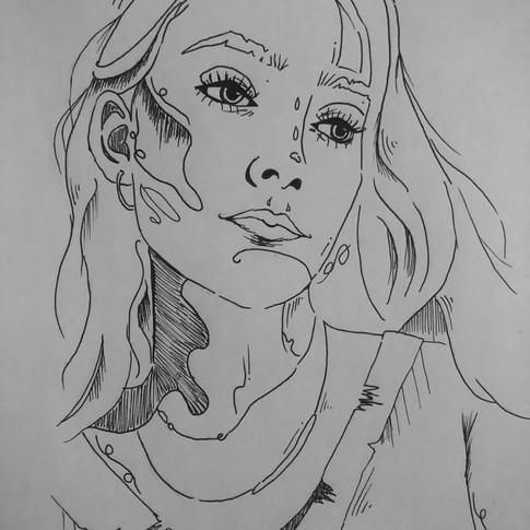 Sophie_L.C,_Angelika,_Crayon_graphite,_2