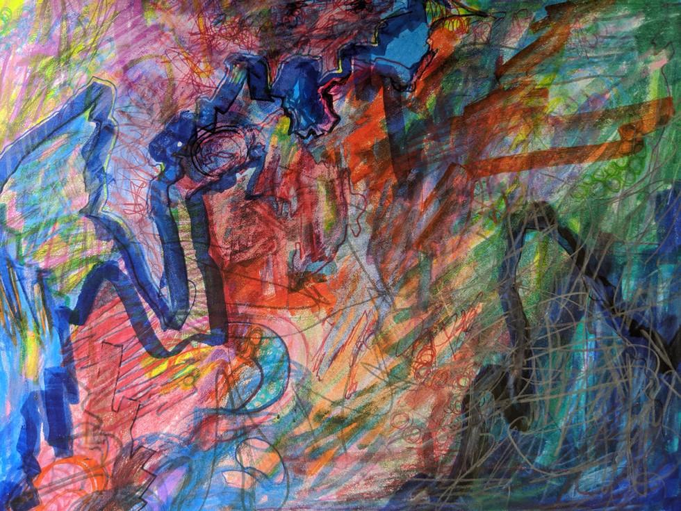 Gabrielle Lavoie - Labyrinthe #2 (Feutre et crayon)